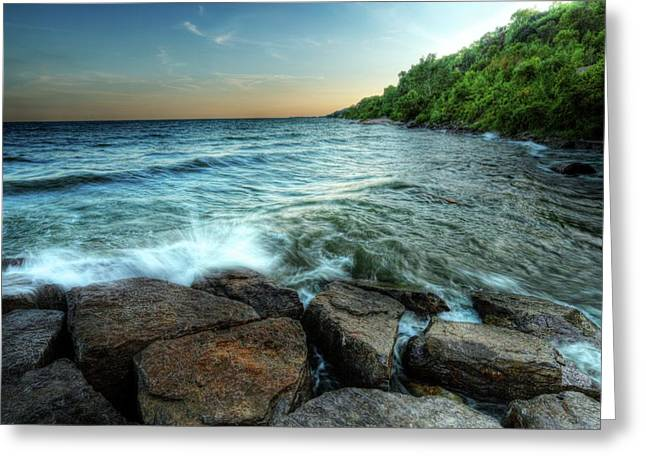 Greeting Card featuring the photograph Reflection On The Rocks by Anthony Rego