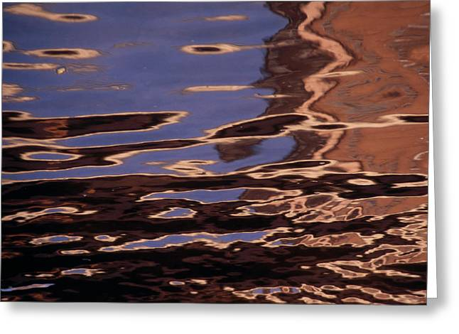Reflection Patterns In The Waves Greeting Card by Paul Damien