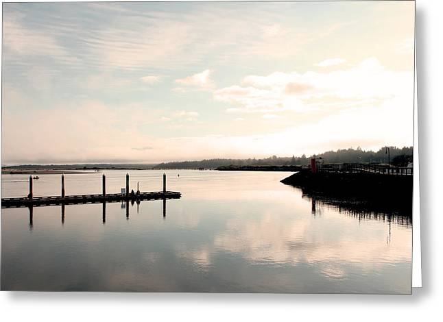 Reflection Greeting Card by Shandel  Gauthier