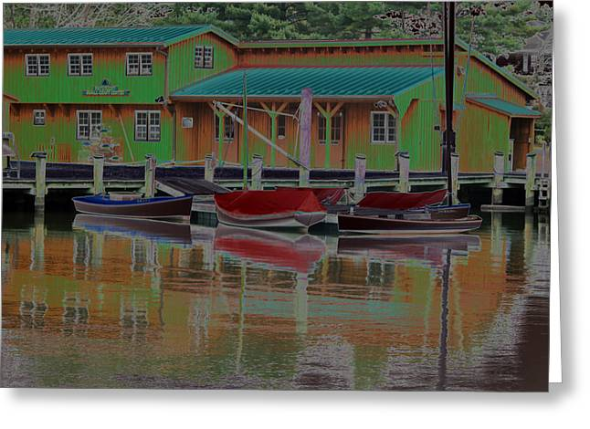 Reflections Of Color Greeting Card by Carolyn Stagger Cokley