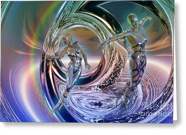 Reflections Of Freedom Greeting Card by Shadowlea Is