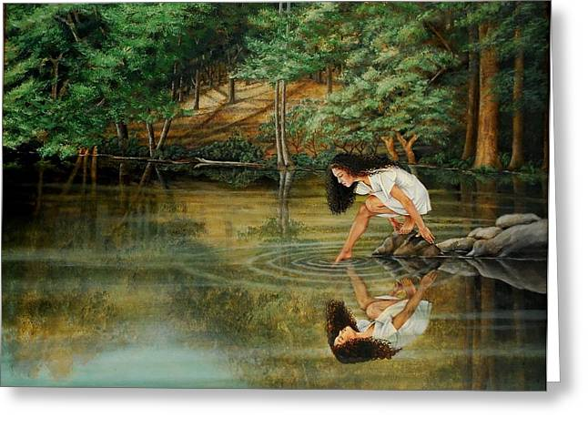 Reflections Of God's Love Greeting Card by Ruth Gee
