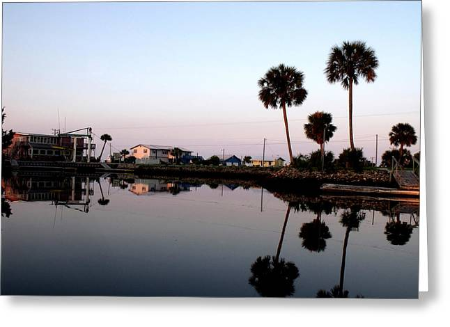 Reflections Of Keaton Beach Marina Greeting Card