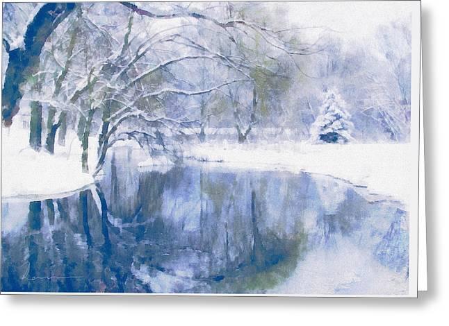 Reflections Of Winter Greeting Card by Georgiana Romanovna