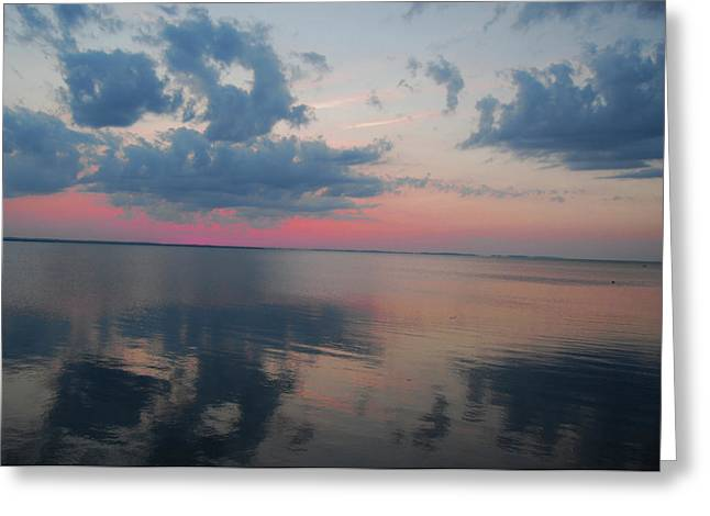 Reflections On The Sound Greeting Card by Linda Mesibov