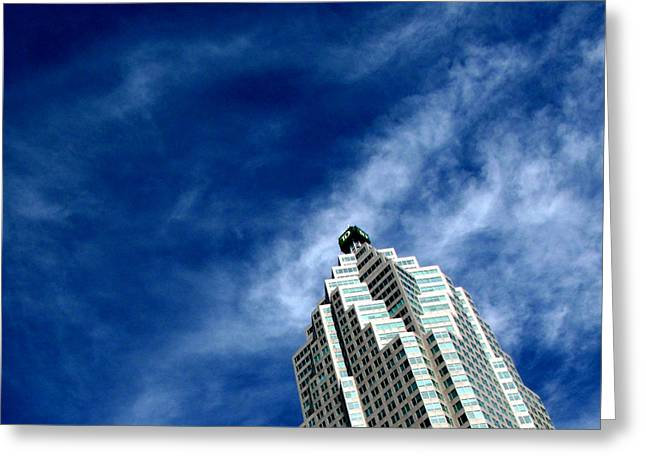 Reflections On The Tower 5  Greeting Card