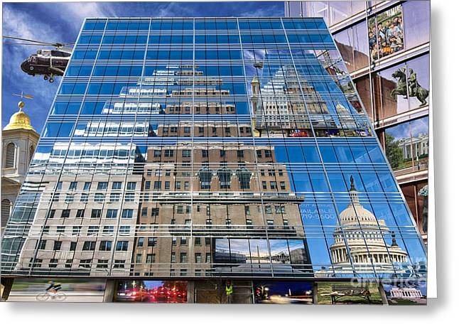 Reflections On Washington Greeting Card by Jim Moore