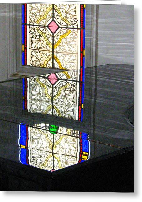 Reflective Mood Greeting Card by Bruce Carpenter