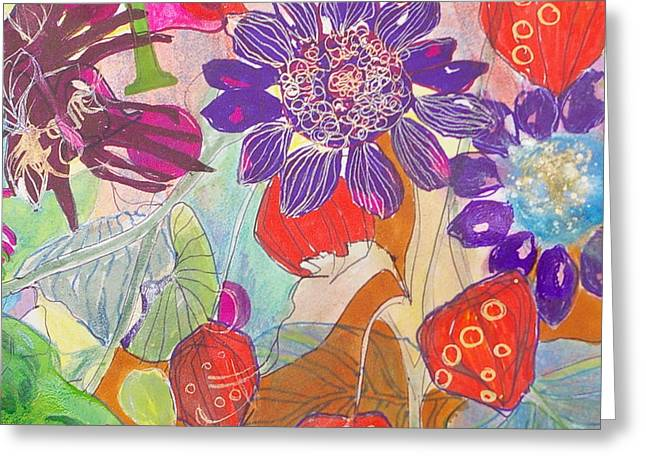 Refreshment IIi Greeting Card by Claudia Smaletz