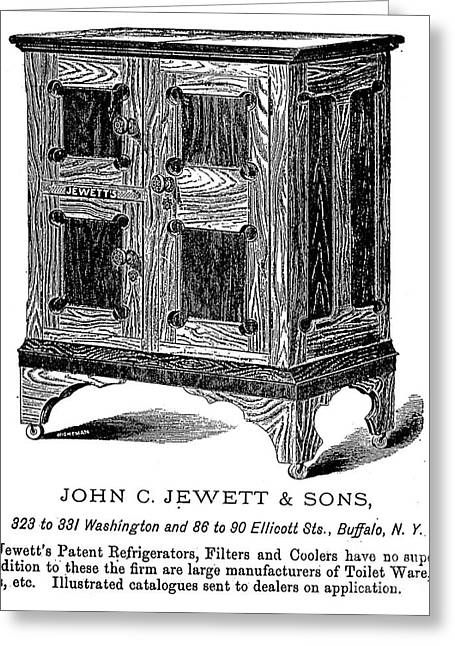 Refrigerator, 1876 Greeting Card by Granger