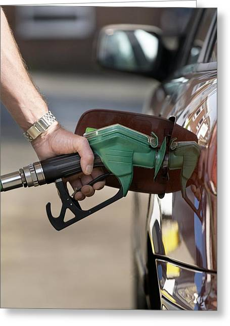 Refuelling Car Greeting Card by Mark Sykes