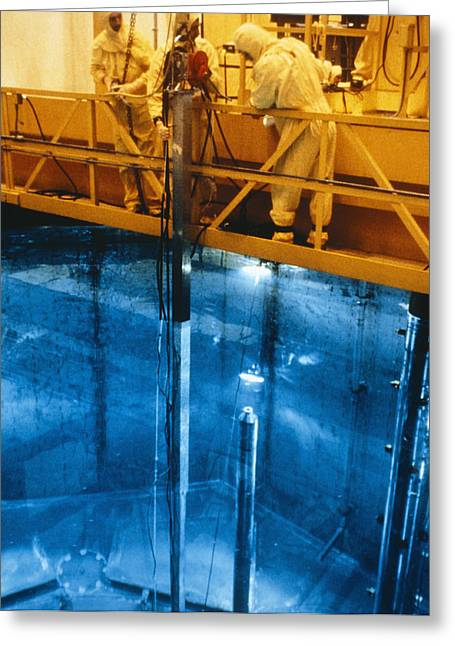 Refuelling Of Nucear Reactor Greeting Card by Us Department Of Energy