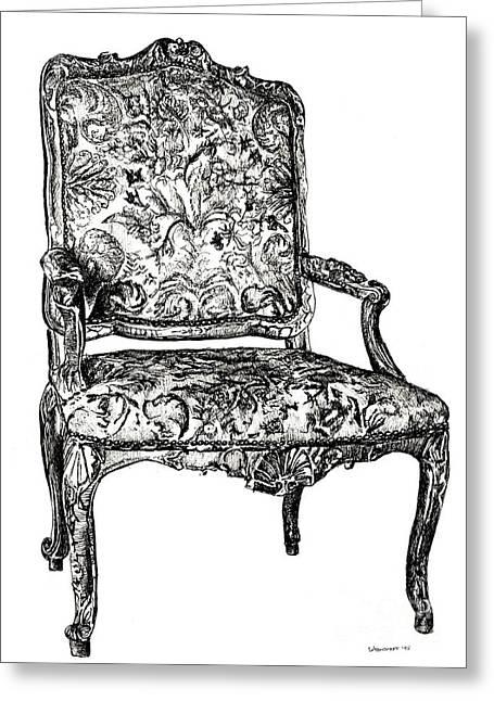 Regency Chair Greeting Card by Adendorff Design