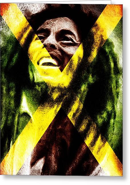 Reggae King Greeting Card by Andrea Barbieri