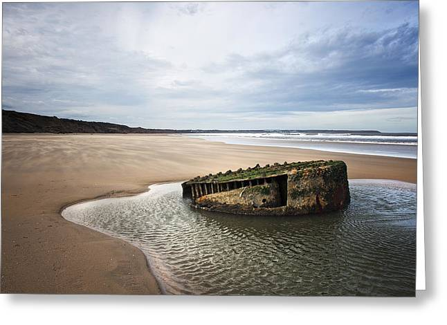 Reighton Sands Shore Greeting Card by Svetlana Sewell
