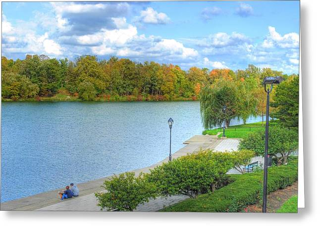 Greeting Card featuring the photograph Relaxing At Hoyt Lake by Michael Frank Jr