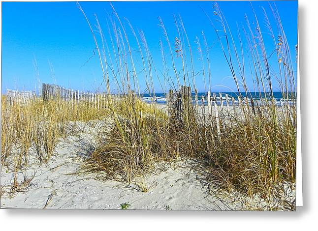 Greeting Card featuring the photograph Relaxing By The Sea by Eve Spring