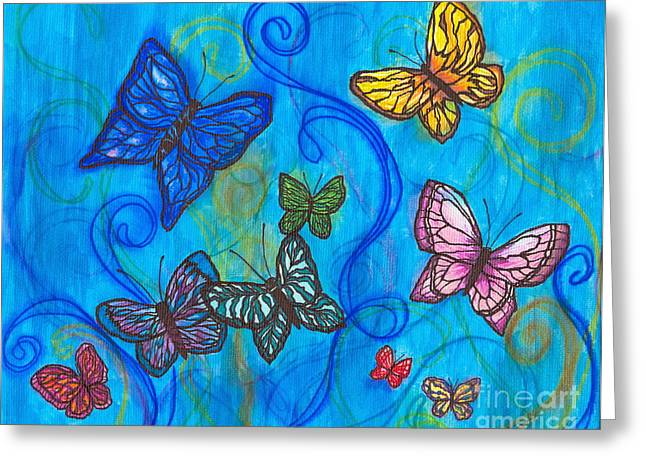 Releasing Butterflies II Greeting Card