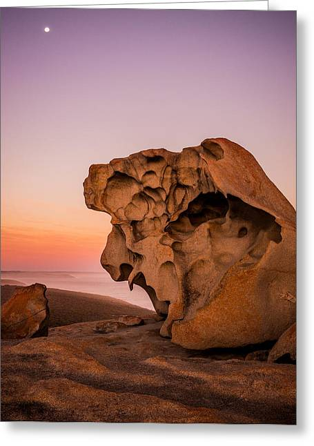 Remarkable Rocks Greeting Card by Ryan  Carter