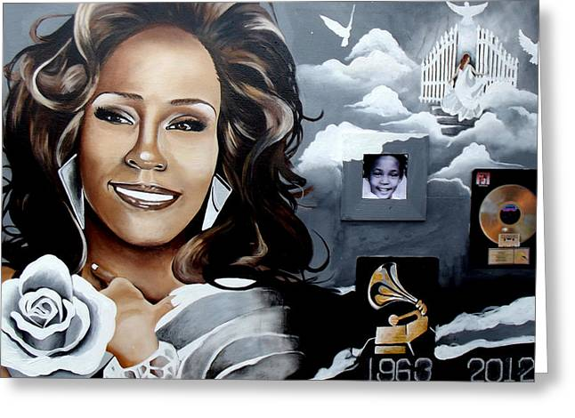 Remembering Whitney Greeting Card by Alonzo Butler