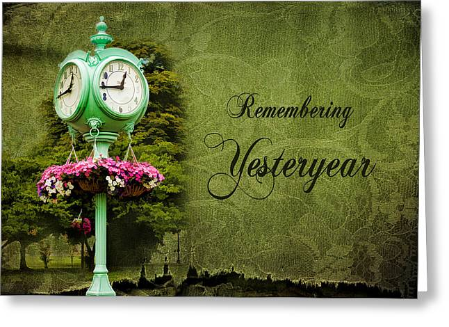 Remembering Yesteryear Greeting Card by Trudy Wilkerson