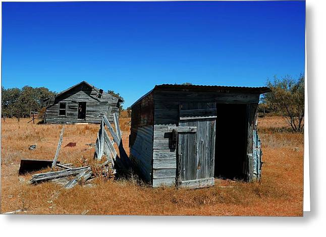 Greeting Card featuring the photograph Remnants Of The Past by Renee Hardison