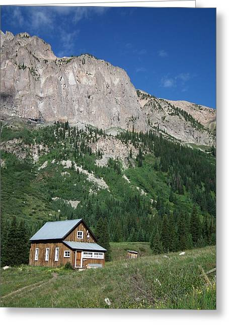 Remote Cabin Greeting Card by Linda Koester