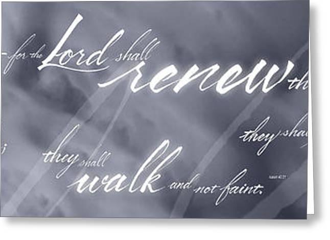 Renew Thy Strength Greeting Card by Elizabeth Rogers