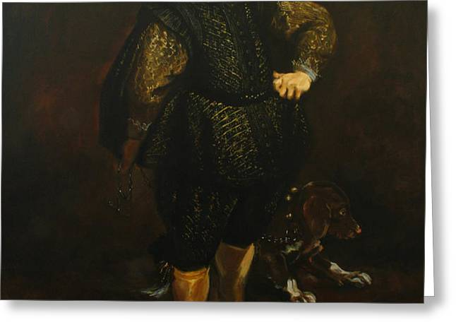Replica of Sir Anthony van Dyck's Filippo Cattaneo Greeting Card by Tigran Ghulyan