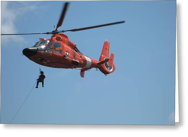 Rescue Helicopter 2 Greeting Card