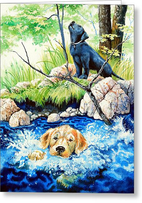 Rescue Me Greeting Card by Hanne Lore Koehler