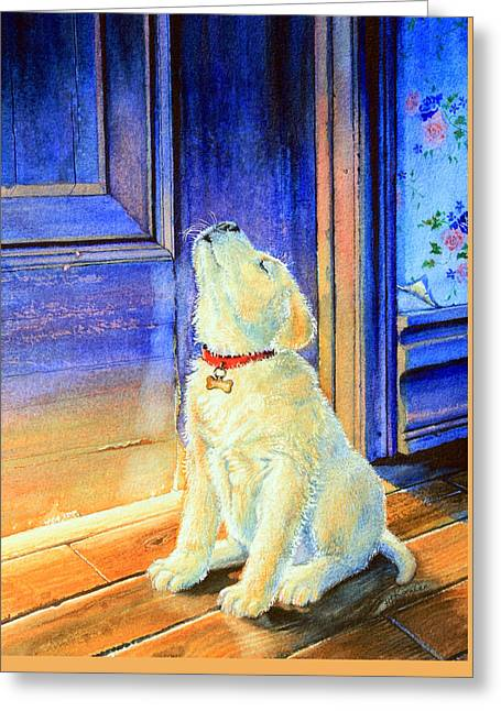 Rescue Pup Greeting Card by Hanne Lore Koehler