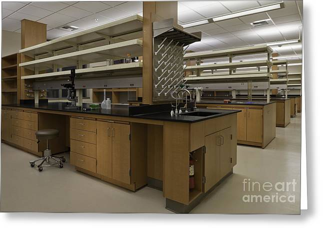 Research Laboratory Workstation Greeting Card