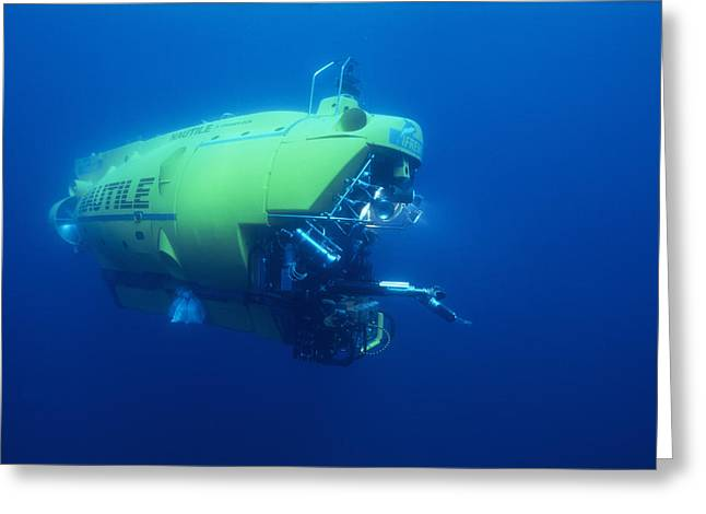 Research Submersible Greeting Card by Alexis Rosenfeld