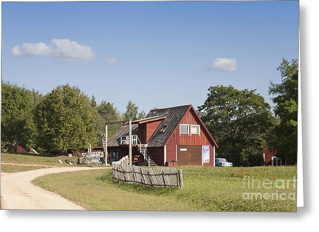 Resort Building In The Countryside Greeting Card by Jaak Nilson