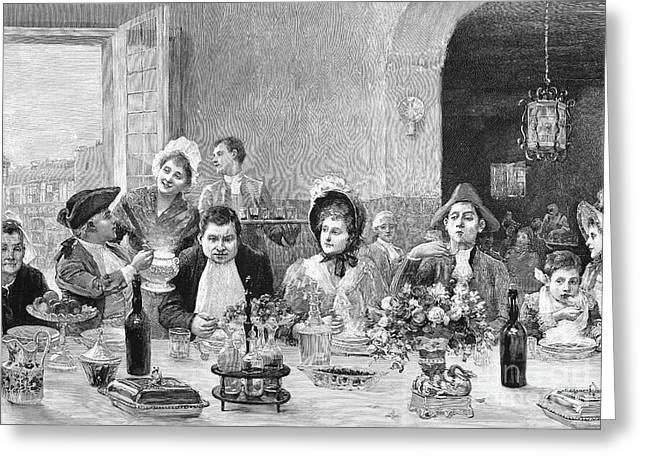 Restaurant, 18th Century Greeting Card by Granger