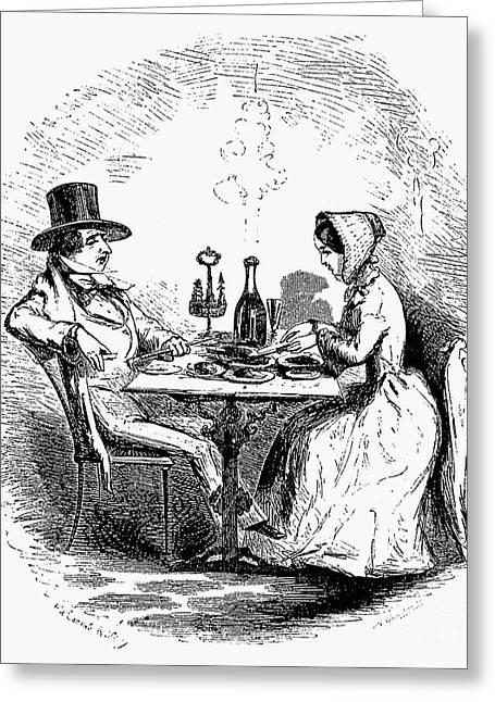 Restaurant, 19th Century Greeting Card by Granger
