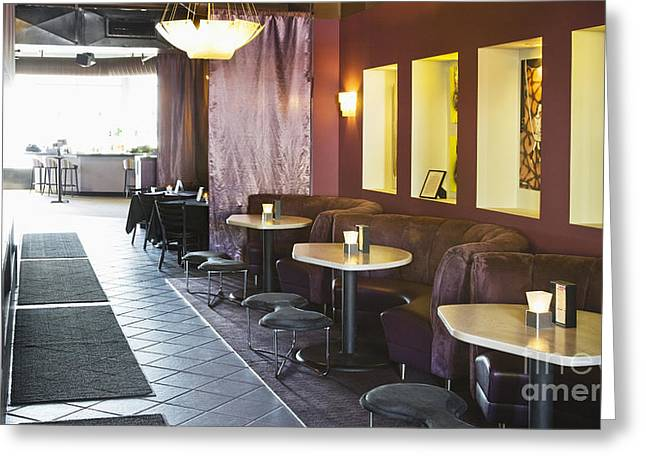 Restaurant Bar Seating Greeting Card by Andersen Ross