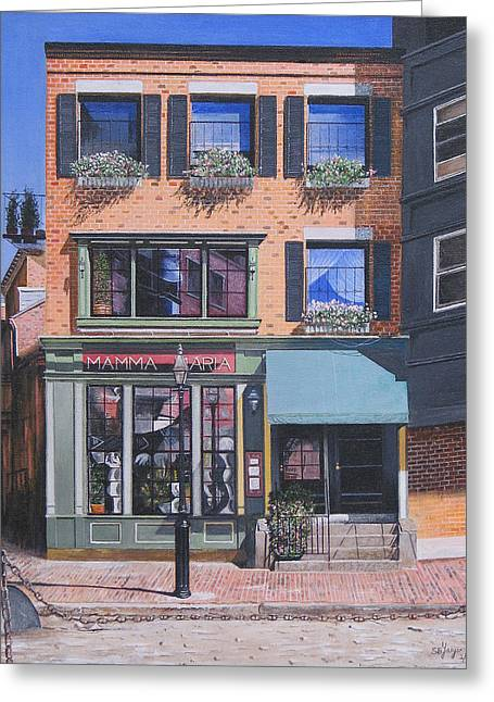 Restaurant Boston North End Greeting Card