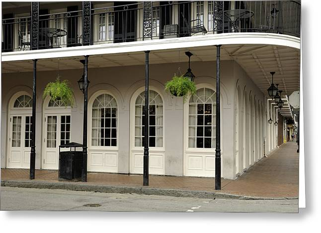 Greeting Card featuring the photograph Restaurant On Bourbon Street by Bradford Martin