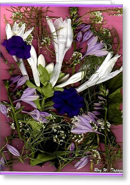 Greeting Card featuring the mixed media Restful Flowers For You by Ray Tapajna