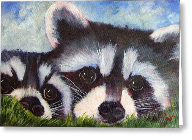 Resting And Watching Greeting Card by Ginger Jamerson