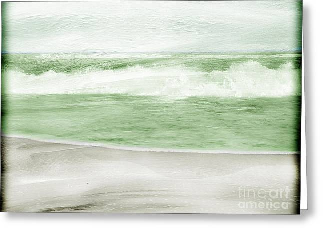 Restless Sea Greeting Card by Linde Townsend
