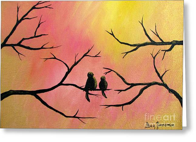 Greeting Card featuring the painting Restoring Hope by Stacey Zimmerman