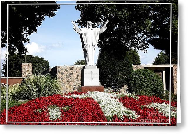 Resurrection Of Jesus Statue Greeting Card