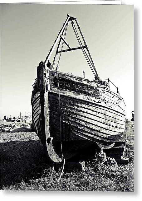Retired Fishing Boat Greeting Card by Sharon Lisa Clarke