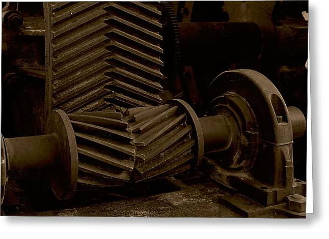 Retired Mining Machine Greeting Card by Jephyr Art