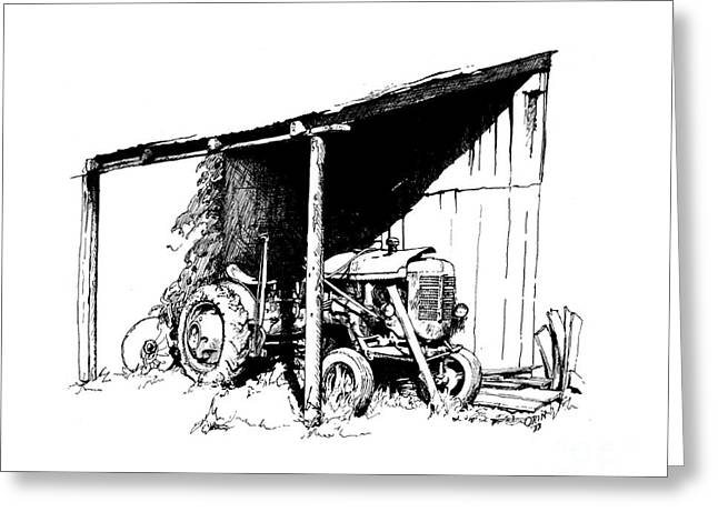 Replacement Pen And Ink Greeting Card by Steve Orin
