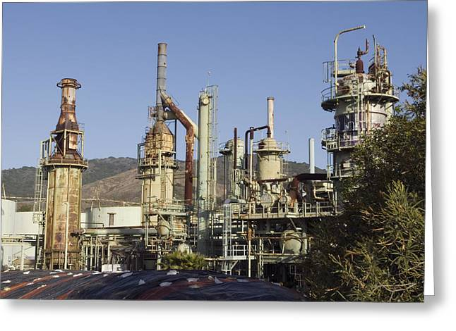 Retired Petrochem Refinery Greeting Card by Rich Reid