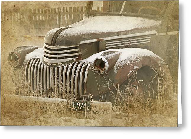 Retired Truck Circa 1924 Greeting Card